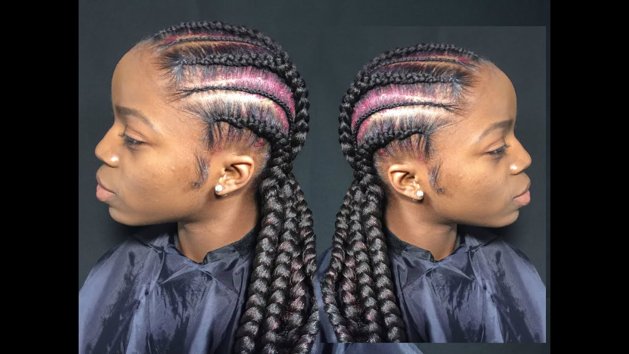 Hair Styles Feed In Braids: How To Tutorial - YouTube