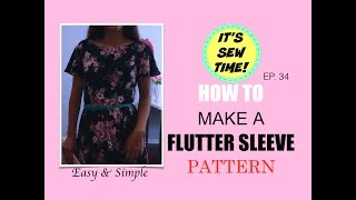 HOWTO MAKE A FLUTTER SLEEVE PATTERN | EASY TO DO