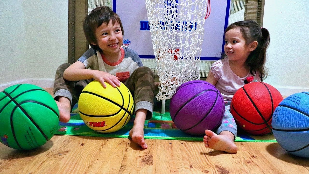 Color Ball Playtime and Learn Colors with Basketballs for ...