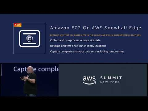AWS Summit New York 2018 - AWS Announces the C2 AMI Support on the Snowball Edge