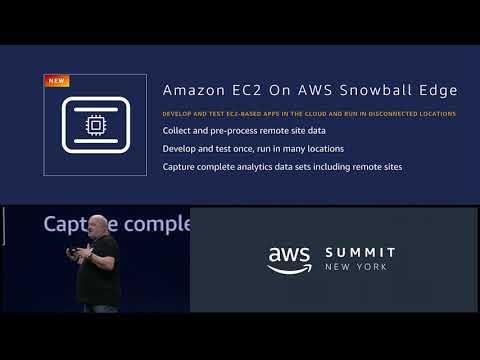 AWS Summit New York 2018 - AWS Announces the C2 AMI Support on the Snowball Edge