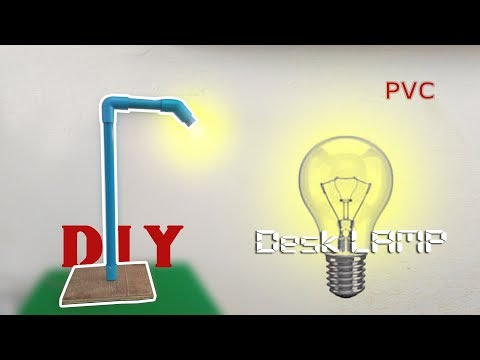 DIY Homemade desk lamp creative idea