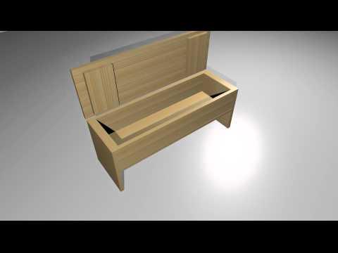 Zelf een steigerhouten klepbank maken youtube for Houten tuinbank zelf maken