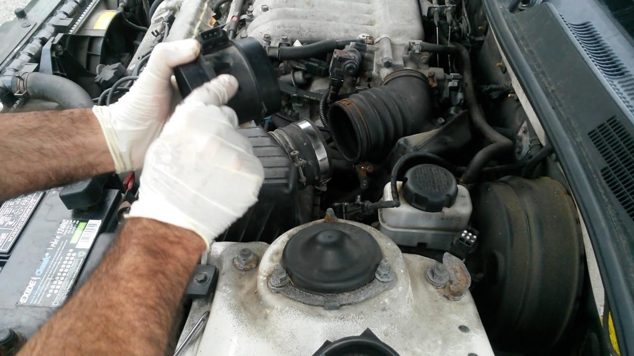 Mass Air Flow Sensor Symptoms >> 2003 Hyundai Sonata / Replacement of the Mass Flow Air ...