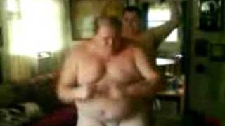 fat man dance off