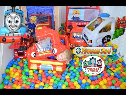 Giant Ball Pit Inflatable Compilation Fireman Sam Thomas And Friends Feuerwehrmann Sam