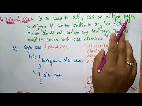 Css In Html Tutorial | CSS Tutorials | By Bhanu Priya
