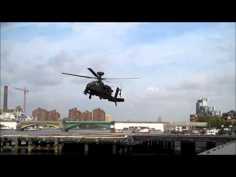 Apache helicopter at London Heliport 22/10/14