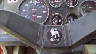 Inside the dump truck mack