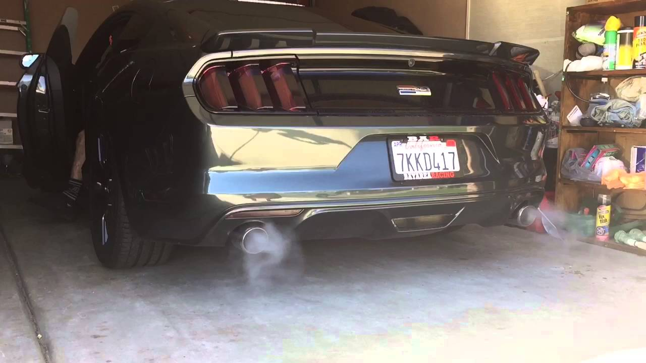 2016 Mustang V6 Exhaust >> New exhaust set up! Straight pipe + X pipe Mustang 2015 v6 - YouTube