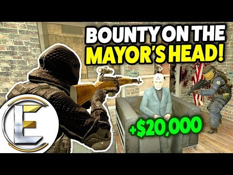 Bounty On The Mayors Head! - Gmod DarkRP Life (Hitman With Big Bountys $20k Per Target)