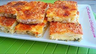 Tepsi böreği nasıl yapılır - Peynirli tepsi böreği tarifi - Börek tarifleri