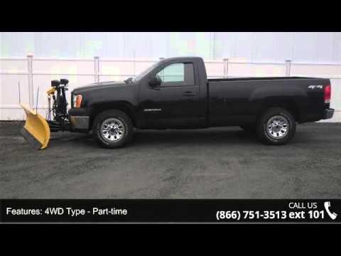 2012 gmc sierra 1500 work truck fisher plow autonorth p youtube. Black Bedroom Furniture Sets. Home Design Ideas