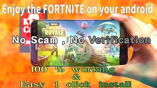 {10000% working } Download fortnite mobile of android games   No verification just install and play  