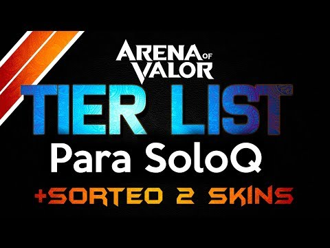 AoV Mi Tier List para SoloQ + Sorteo 2 Skins| Arena Of Valor | DayMelto Gameplay Español
