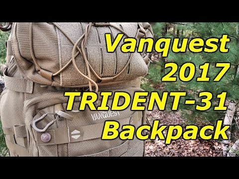 156f32c9aa9 2017 TRIDENT-31 Backpack by Vanquest  Full Backpack Review - YouTube