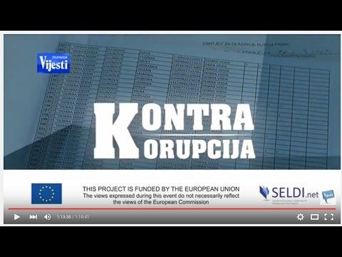 TV VIJESTI: Presenting SELDI Corruption Survey Results in Montenegro, 15.04.2016