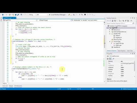 C++ Tutorial: 1-D type-II DCT and IDCT with the FFTW library (on Windows)