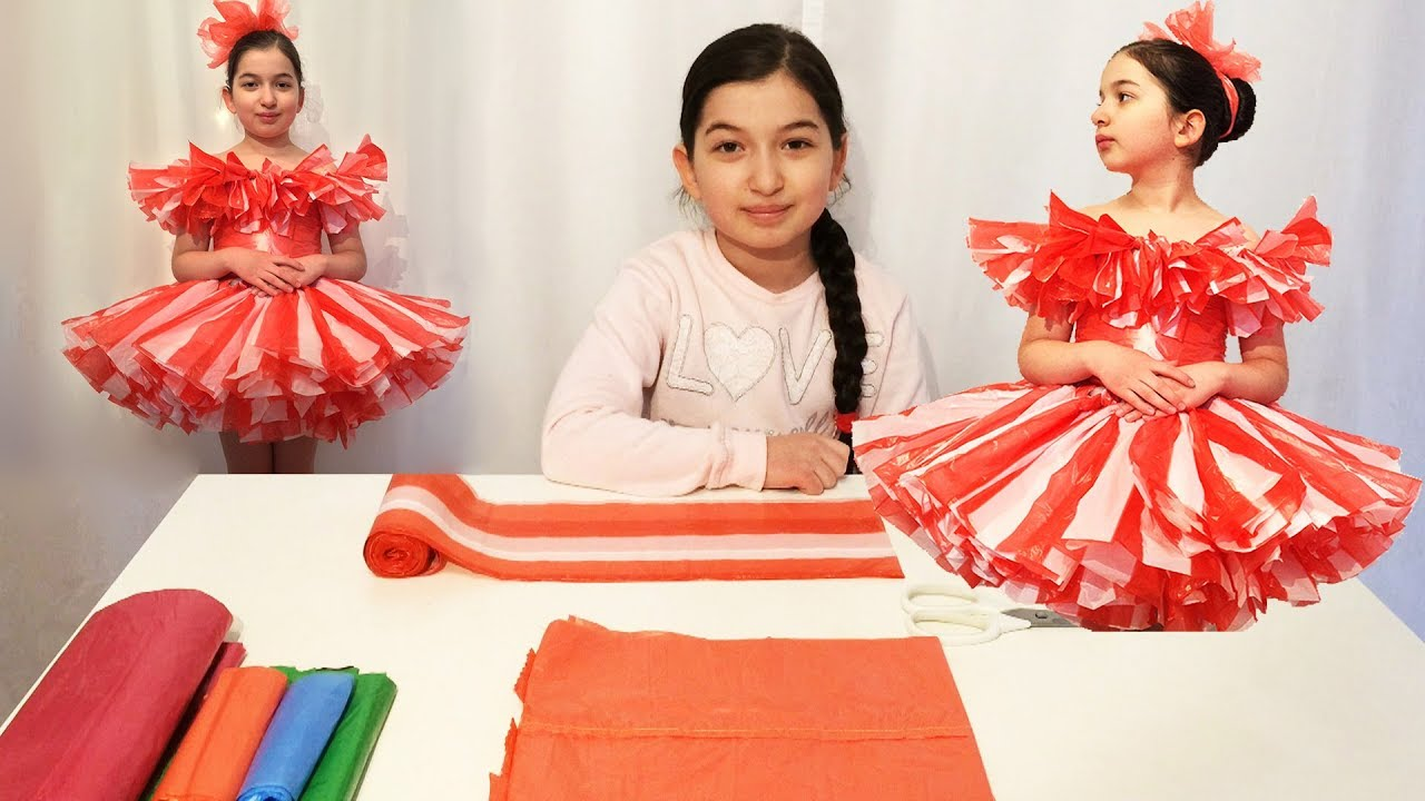 Платья для девочки из подручных материалов своими руками
