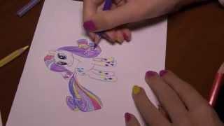 Как нарисовать пони Rarity Rainbow Power(В этом видео я рисую модную пони Rarity. Она - известный дизайнер в Понивиле и имеет там собственный бутик