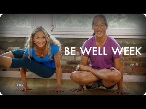 Rodney yee and colleen saidman teach restorative yoga be well week