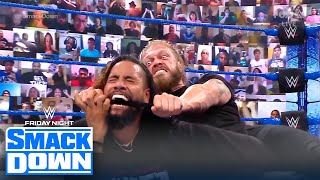 Edge brutally attacks Jimmy Uso until he's forced to tap out