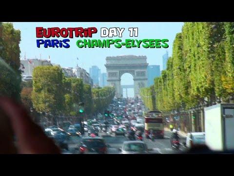 EUROtrip ➡ DAY 11 PARIS Champs Elysees / ЕВРОтур ➡ ДЕНЬ 11 Париж Елисейские поля