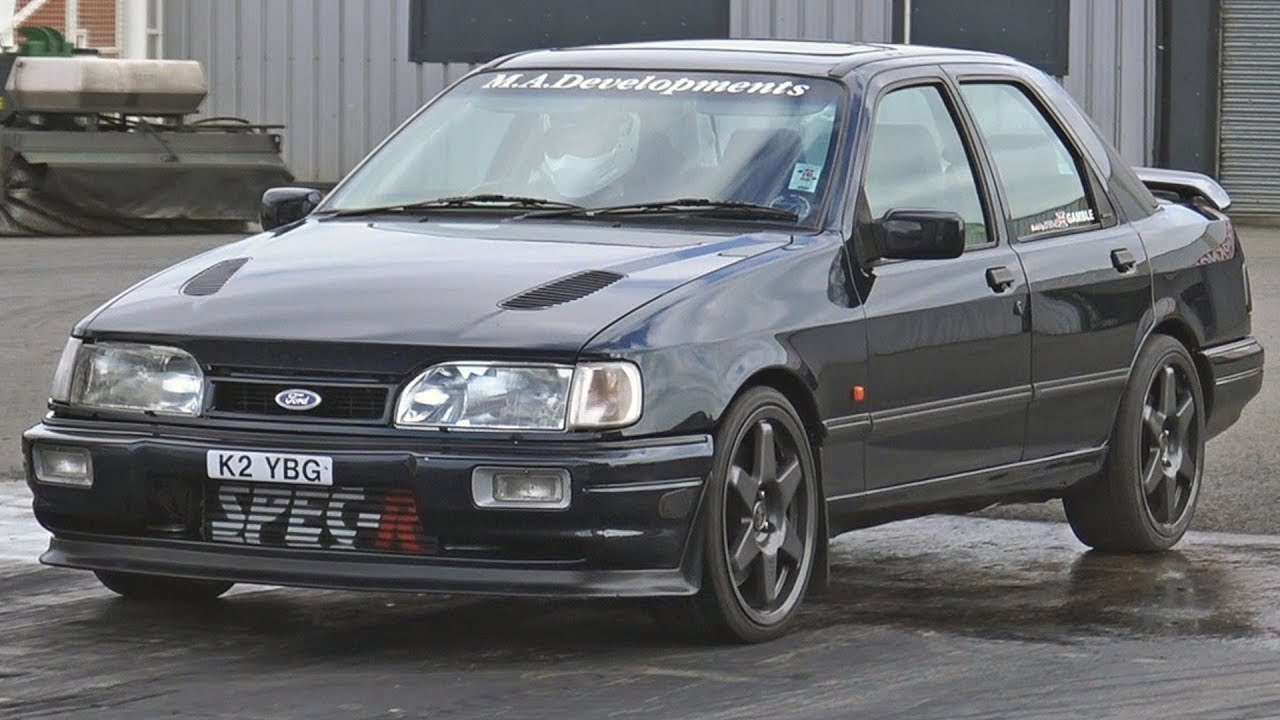 750hp ford sierra sapphire cosworth at santa pod raceway. Black Bedroom Furniture Sets. Home Design Ideas