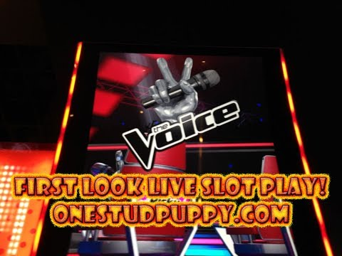 FIRST LOOK IGT THE VOICE SLOT MACHINE LIVE PLAY AT SAN MANUE
