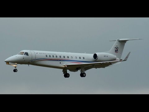 Government of Panama Embraer-135 landing runway 14 at ZRH