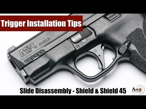How To Disassemble The M&P Shield And M&P Shield 45 Slide
