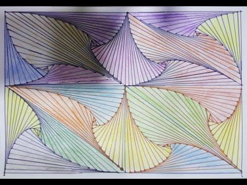 Mô hình Doodle Phác thảo – Cách vẽ ảo ảnh đường | Pattern Doodle Sketch – How to Draw Line Illusions