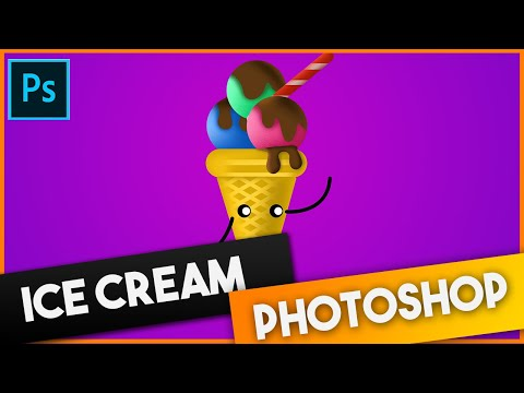 Ice Cream Photoshop Art | Speed Art
