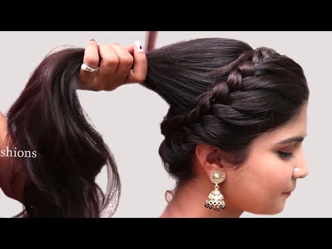 Party hairstyle 2019 for Wedding/Party/function | Easy Hairstyles | Hairstyle with Trick thumbnail