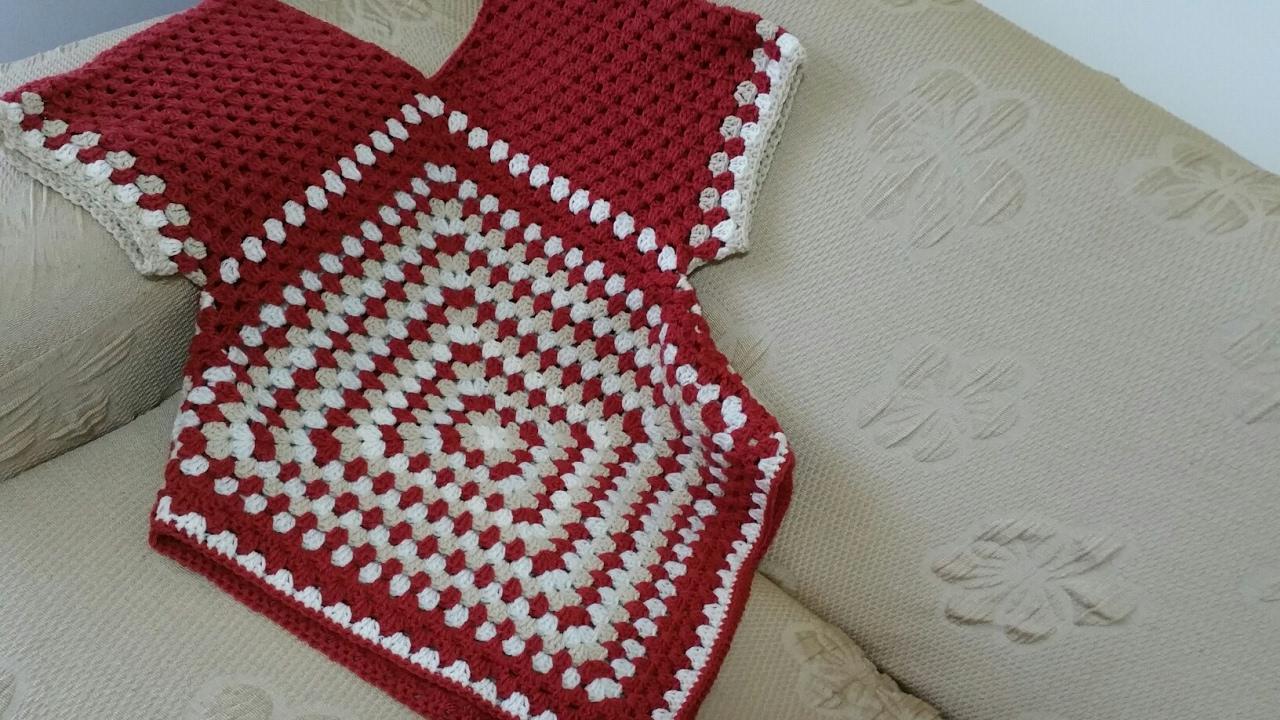 Maglia uncinetto tutorial blouse crochet granny square youtube