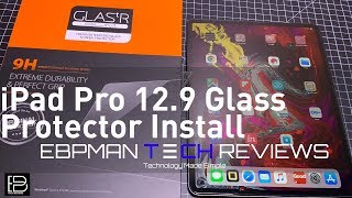 Spigen Glass Screen Protector Review & Install for Apple iPad Pro 12.9 2018