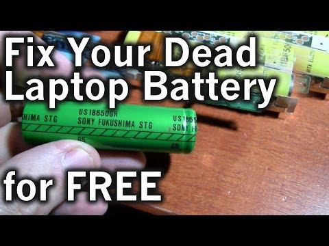 DIY: Repairing a 15 Year Old Computer Laptop Battery for Free! Create a Replacement!