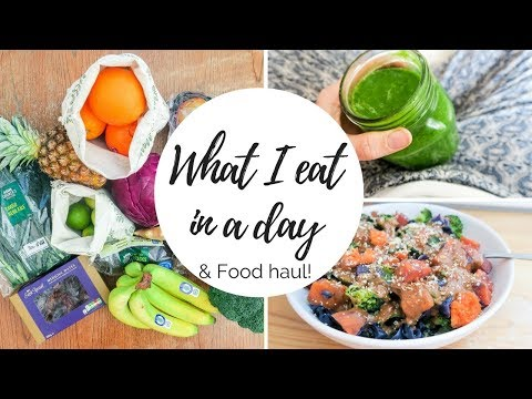 What I eat In A Day & FOOD HAUL    Vegan & Zero/Low Waste   Intermittent Fasting