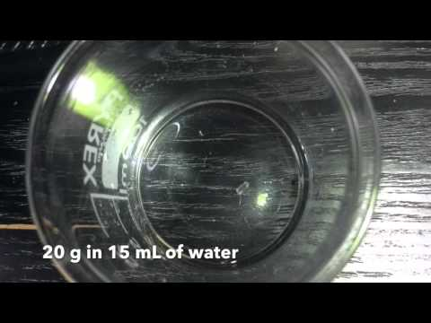 Crystallisation of Magnesium Sulfate Heptahydrate - 20 g in 15 mL of Water