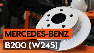 tagumine ja eesmine Piduriklotside komplekt asendamine MERCEDES-BENZ B-CLASS (W245) - videoõpetused