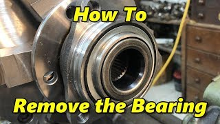 How To Remove Bearing From GM Hub Assembly