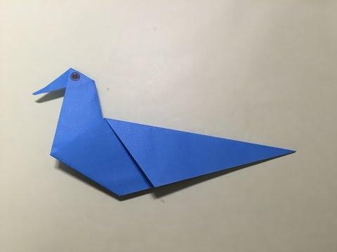 ハート 折り紙:折り紙 鳥 折り方-youtube.com