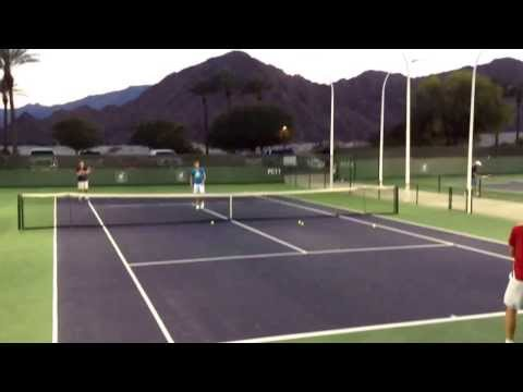 Florian Mayer practice session Indian Wells 2014