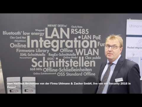 Herr Hartmut Beckmann von der Firma Uhlmann & Zacher GmbH, live von der Security 2016 in Essen!jj