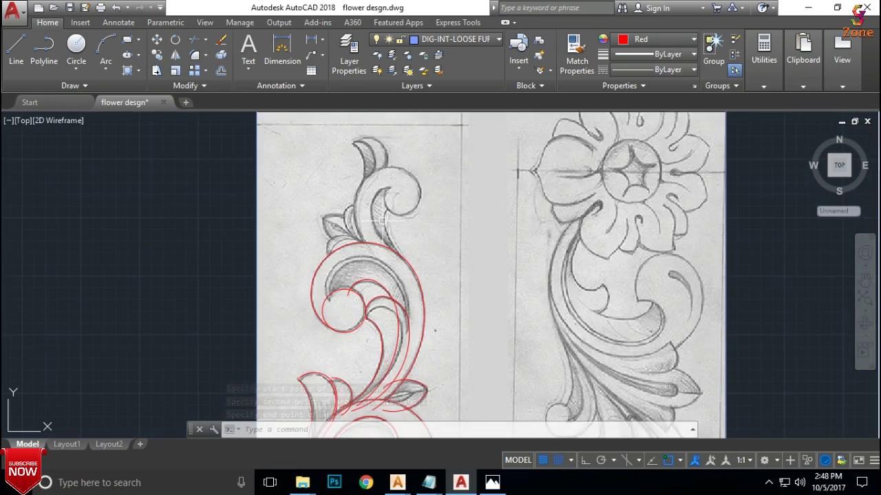 Flower Carving Design part 1