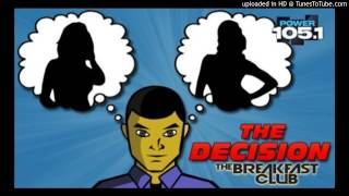 The Decision - Trevor vs Jelena 30 Year old Virgin - At The Breakfast Club Power 105.1