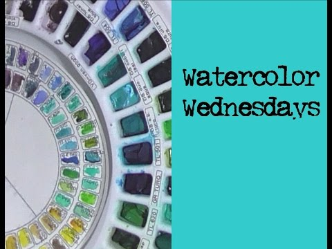 Watercolor Wednesday - Palettes, Sets And Color Mixing
