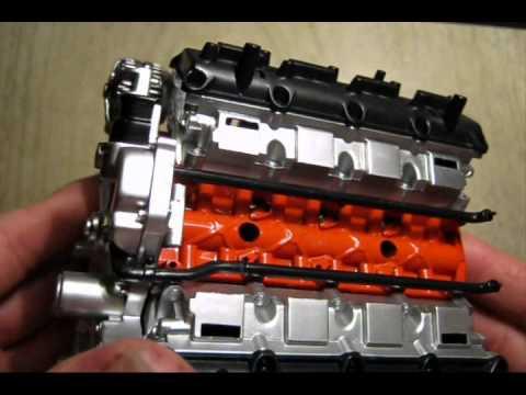 HAWK 6.1 Liter DODGE Hemi V8 Model Kit - Part TWO - YouTube