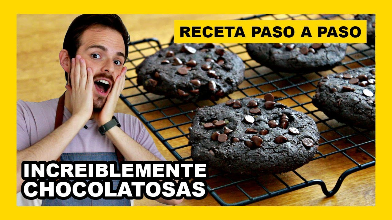 🔶 Receta de GALLETAS de CHOCOLATE FACILES y rapidas (VEGANAS y saludables)