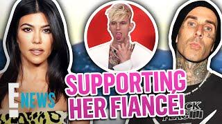 Kourtney Kardashian Supports Travis Barker at Machine Gun Kelly Concert | E! News